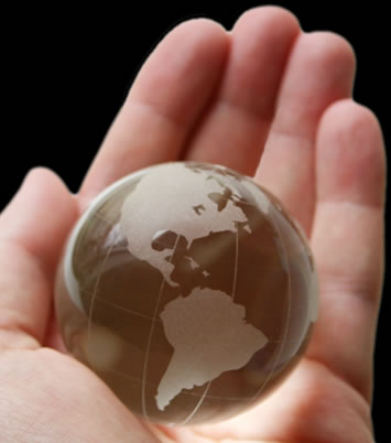World in you Palm